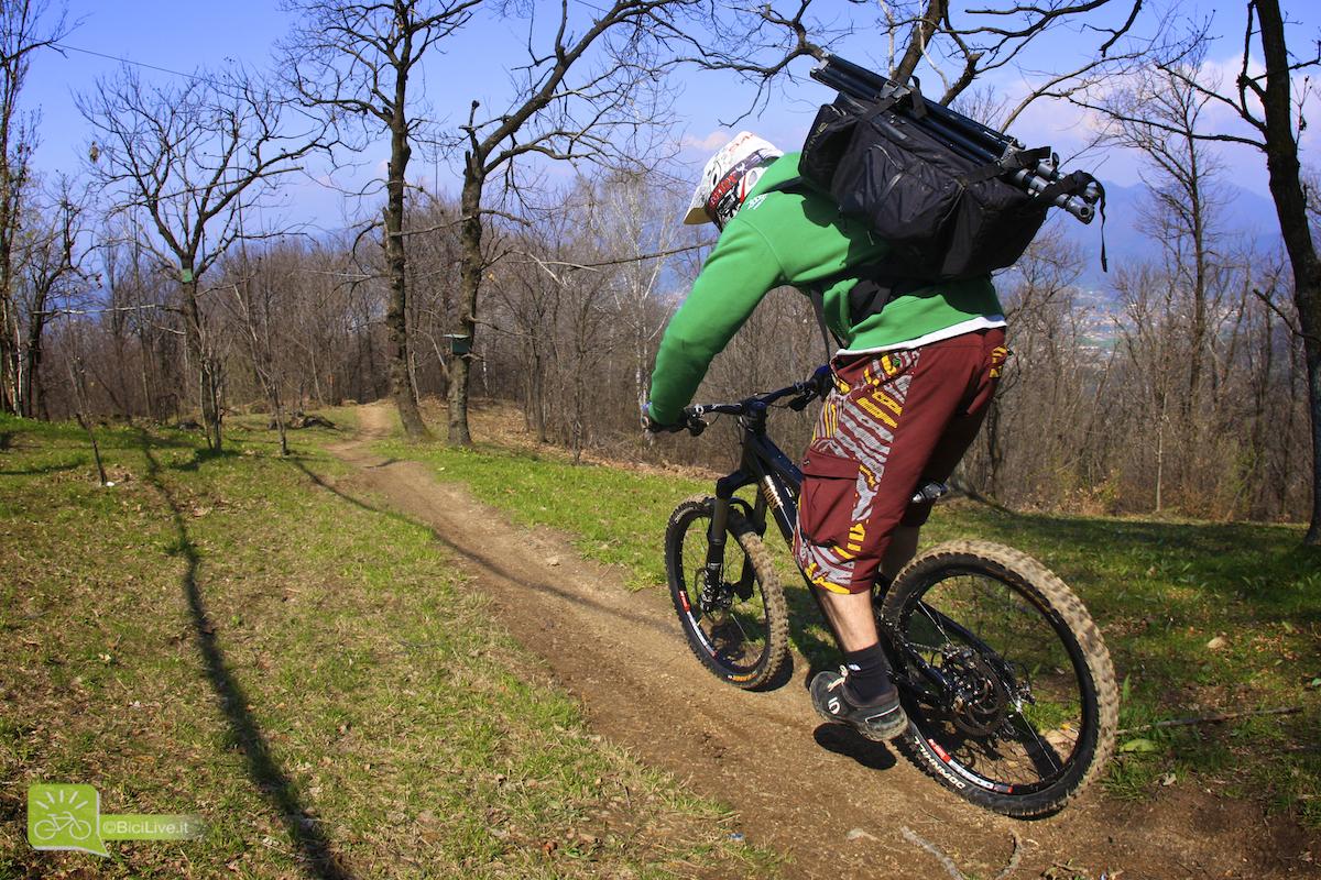 Trasporto attrezzatura in bici