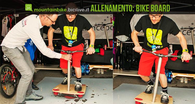 foto della tavola bike board