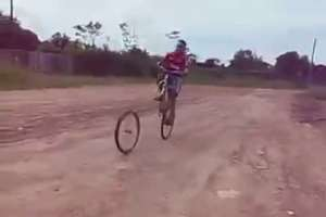 funny bicycle accident (fail video)