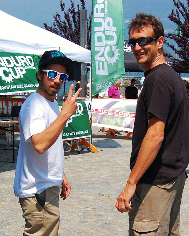 Foto di Filippo Delzanno | L'inesauribile speaker Ricky Fadda e Sergio Ghezzi di Rose Italia