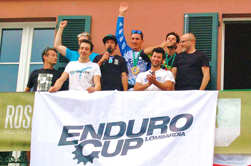 Foto di Filippo Delzanno | I vincitori dell'assoluta con Sergio, Marco, Tommaso e lo speaker Ricky: applausi meritati per tutti!
