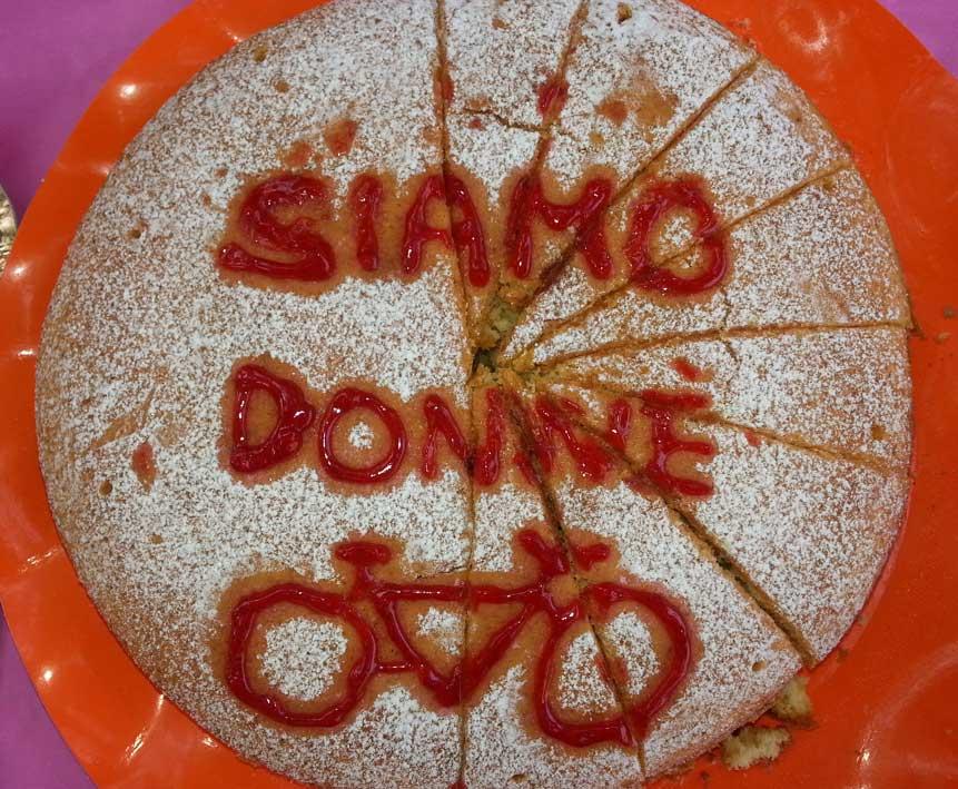 Uno dei dolci del ristoro fatto dalle bikers.