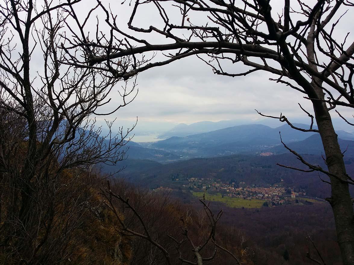 la vista sul Brinzio dal nostro punto panoramico