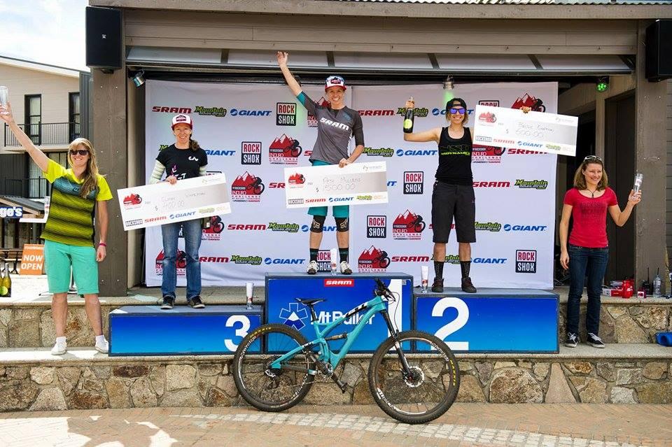 Il podio femminile: Peta Mullens, Brodie Chapman e Claire Whiteman. La fidanzata di Clementz, Pauline Dieffenthaler, chiude quarta.