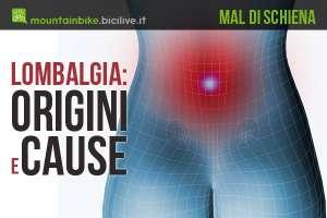 Origini e cause dal mal di schiena e della lombalgia