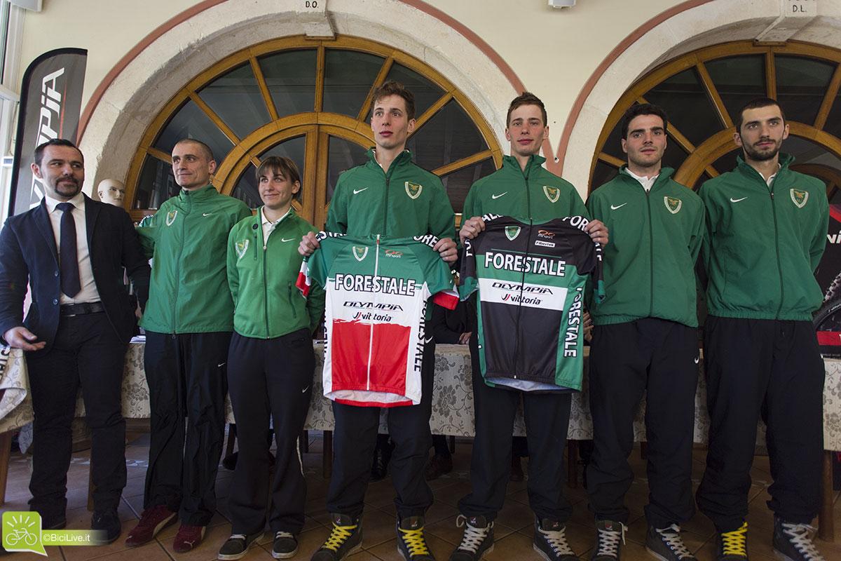 Il Gruppo Sportivo Forestale al completo