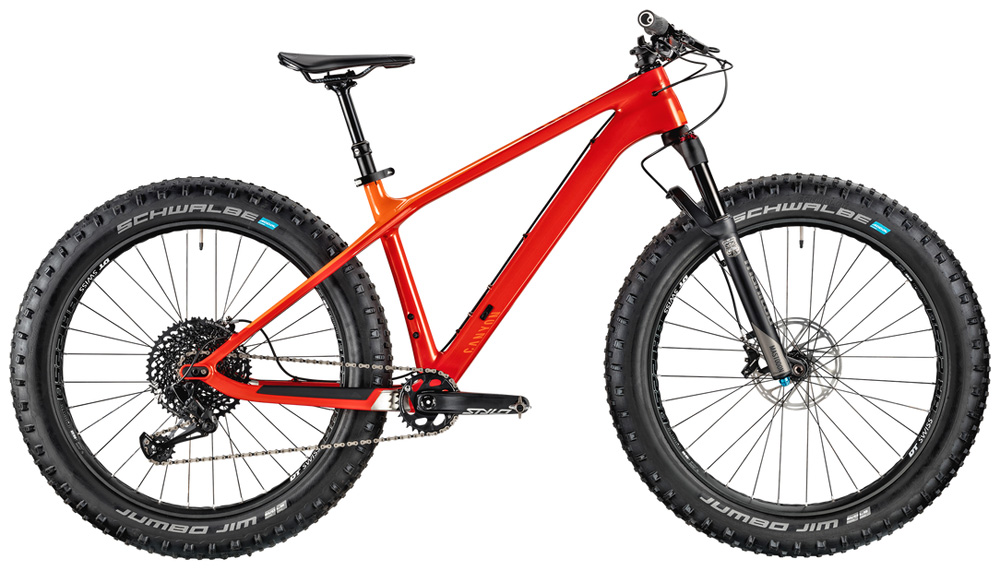 La mountain bike fat Canyon Dude CF 9.0 Trail anno 2020