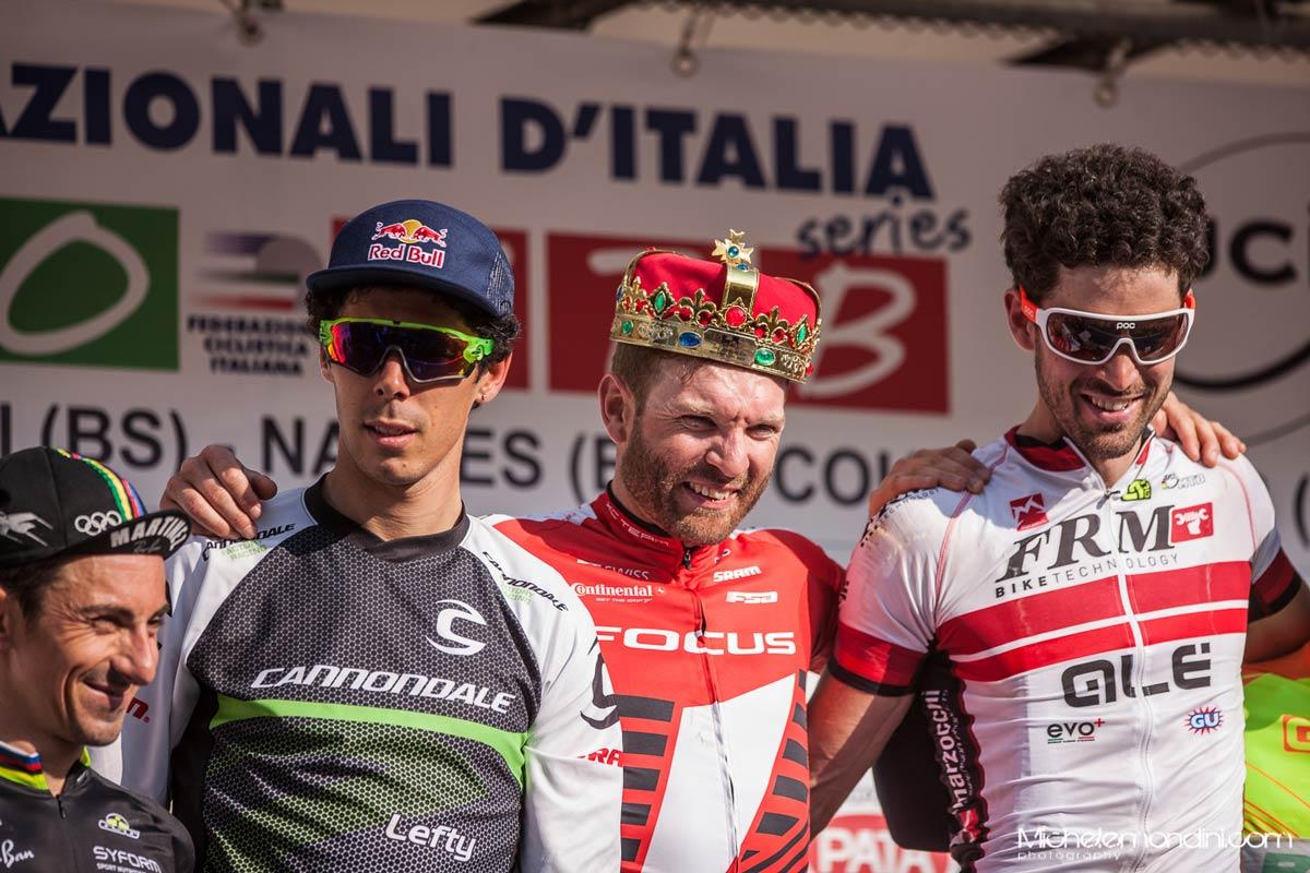 Florian Vogel, Marco Aurelio Fontana, Andrea Tiberi è il podio del Trofeo Delcar 2015