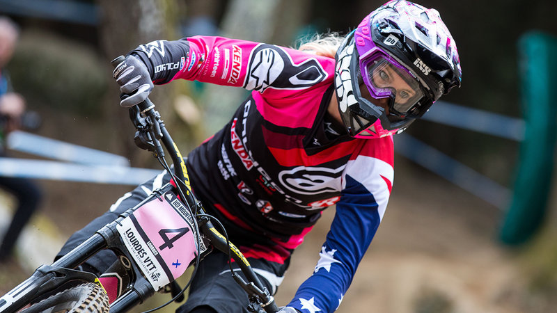 Tracey Hannah, qualifiche UCI DH World Cup 2015© Lukas Pilz