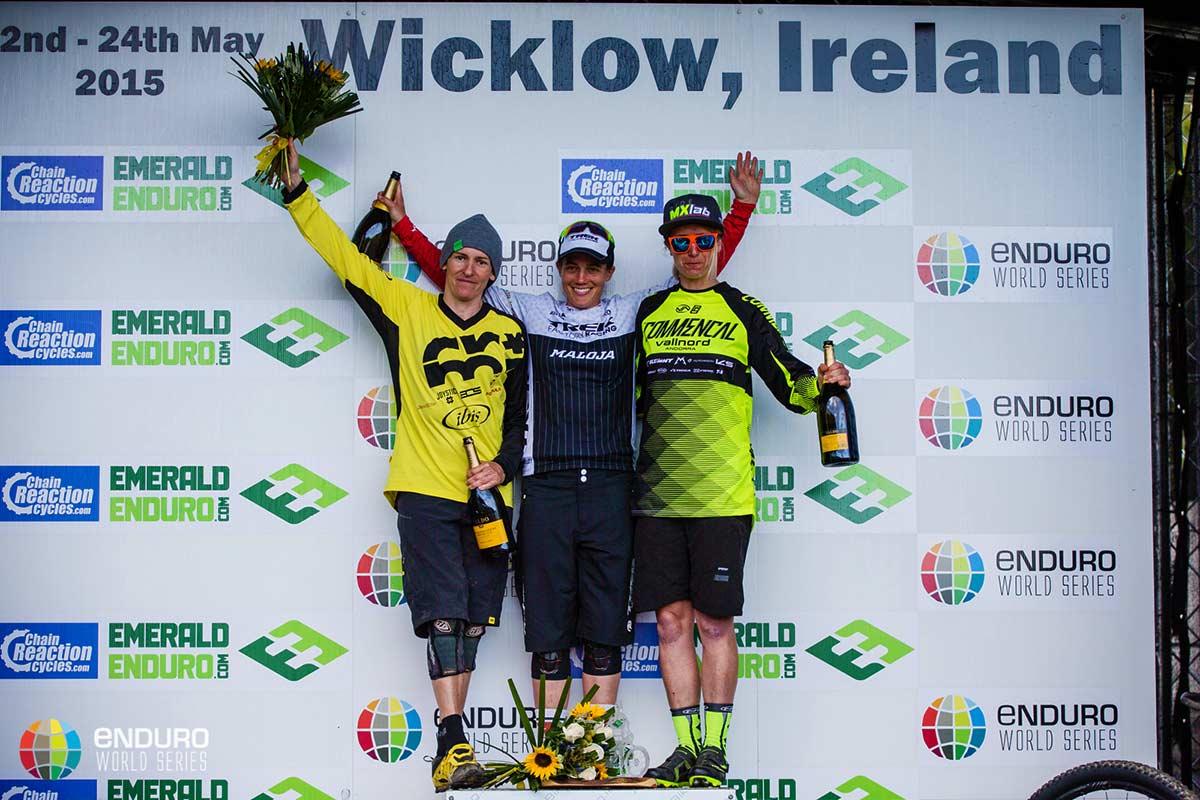 Il podio femminile: 1 - Moseley,2 - Chausson, 3 - Ravanel