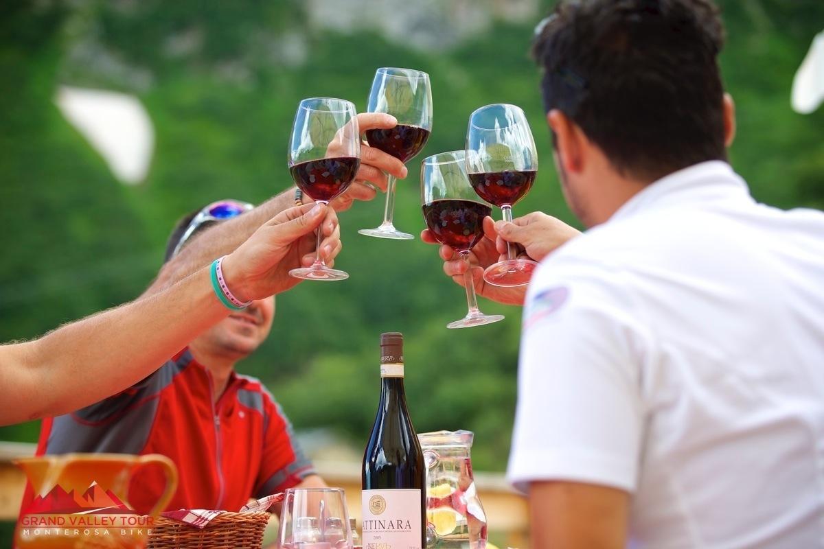 E come non bere dell'ottimo Gattinara al Ristorante la Baita sopra Alagna?