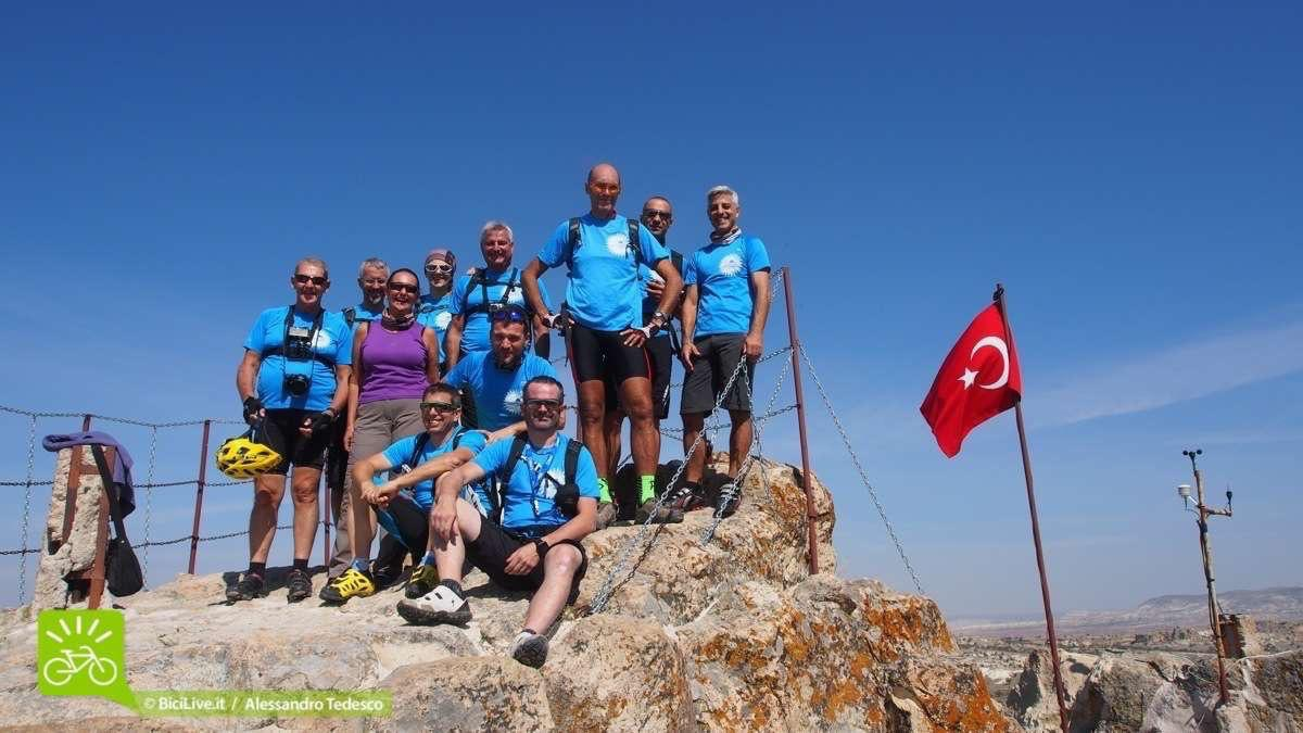 Il Gruppo del nostro Coast2Coast mtb tour in Cappadocia
