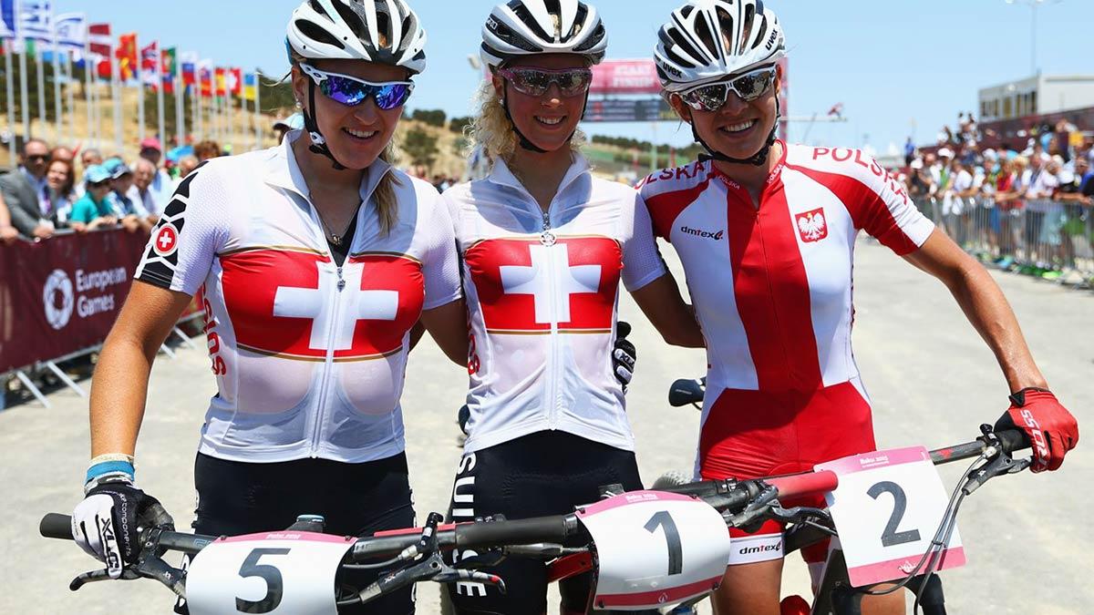 podio donne xc baku2015, Jolanda Neff