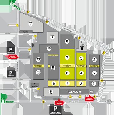 L'area espositiva di CosmoBike Show 2015