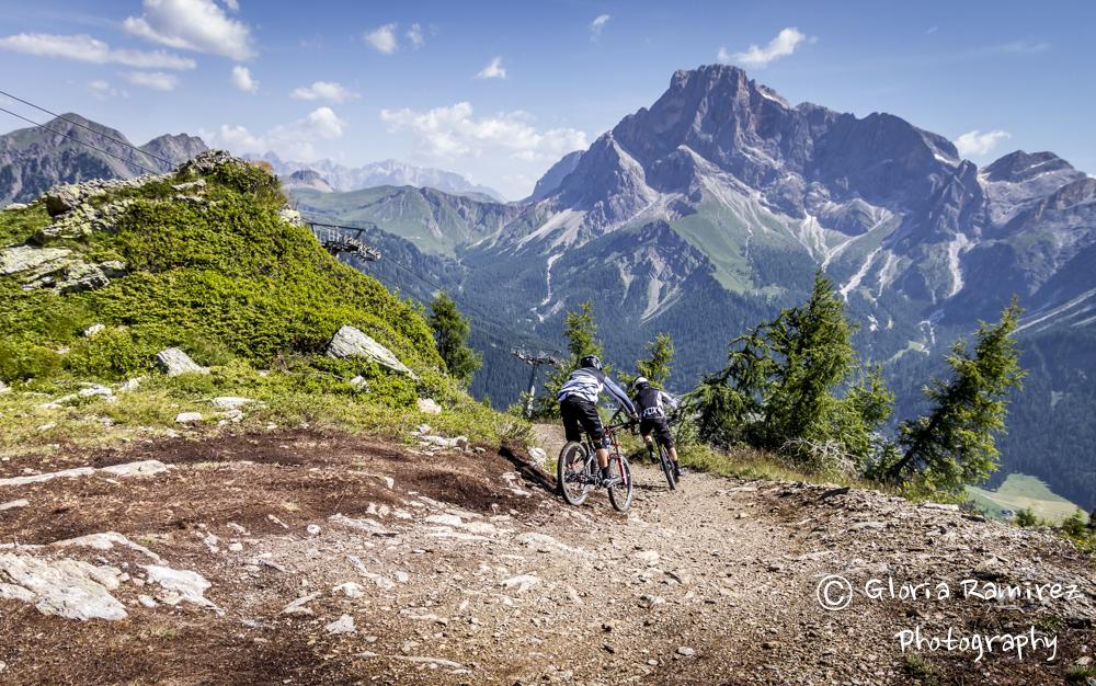 La ripida discesa di downhill era la seconda prova del Primiero EX3ME 2015