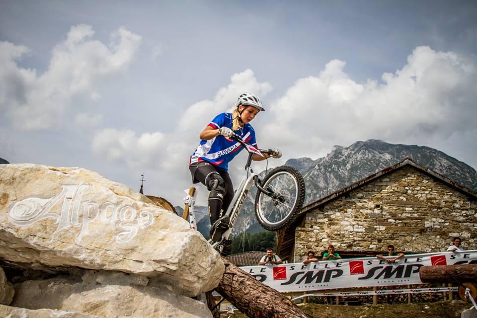 Tatiana Janickova (Svk) durante la gara all'European Champion trial. È lei la neo campionessa europea 2015.