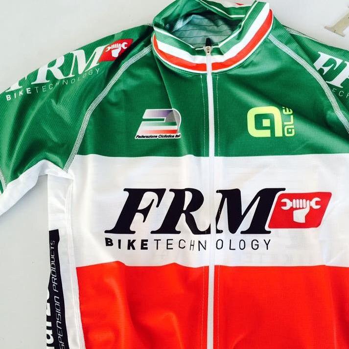 La maglia tricolore che vestirà Andrea Tiberi nelle prossime gare XCO