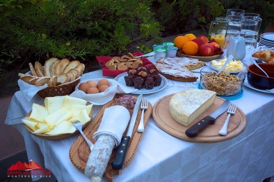 Eccola la super colazione all'Albergo dei Pescatori