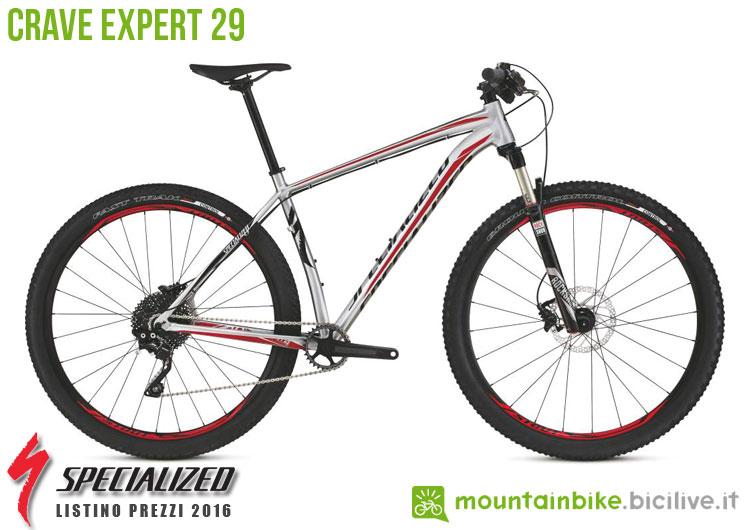 Una foto della bicicletta Crave Expert 29 sul listino prezzi ufficiale mtb Specialized 2016