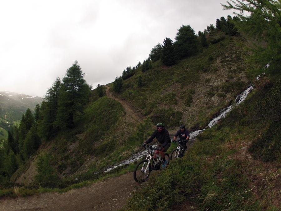 La foto della mia prima volta in mtb a fare downhill al Mottolino Bike Park