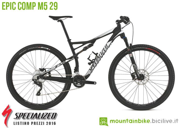 Una foto della bicicletta Epic Comp M5 29 sul listino prezzi ufficiale mtb Specialized 2016