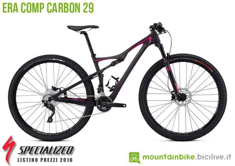 Una foto della bici da donna Era Comp Carbon 29 sul listino prezzi ufficiale mtb Specialized 2016