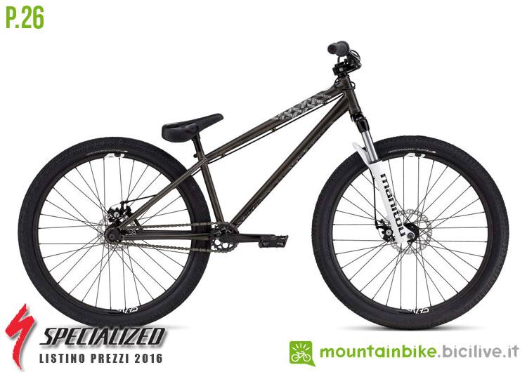 Una foto della bicicletta da uomo P.26 sul listino prezzi ufficiale mtb Specialized 2016