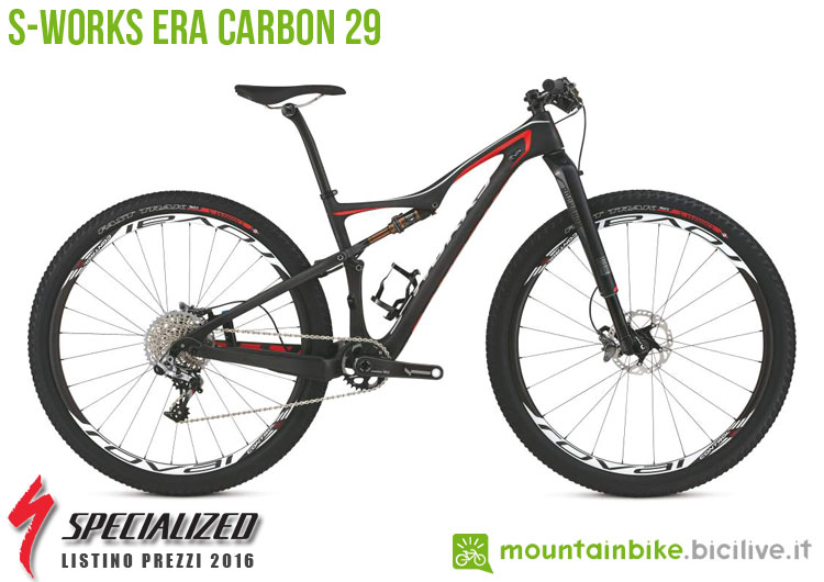 Una foto della bici da donna S-Works Era Carbon 29 sul listino prezzi ufficiale mtb Specialized 2016