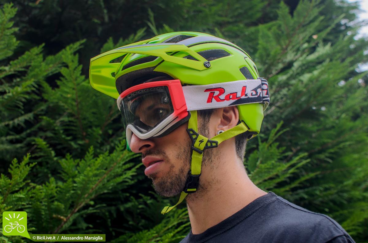 Indossando la maschera non ci sono problemi di fastidiosi spostamenti non voluti.