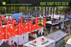 foto panoramica degli stand al bike shop test a bologna