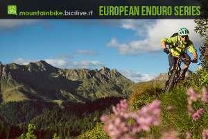 Foto di Luca Bortolotti in bici enduro