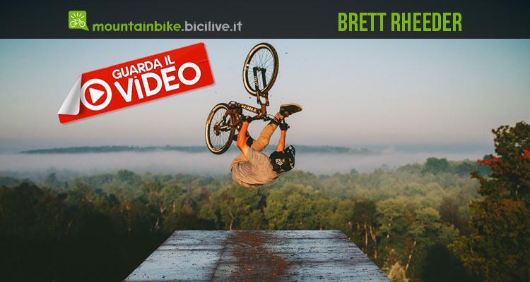 foto di brett rheeder in azione