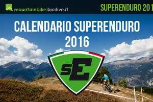 Immagine che annuncia il Calendario Superenduro 2016
