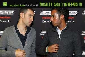 foto di Vincenzo Nibali e Fabio Aru nella sede di FSA