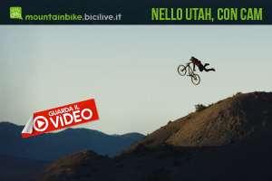 Le acrobazie di Cam McCaul su mtb della Trek nello Utah