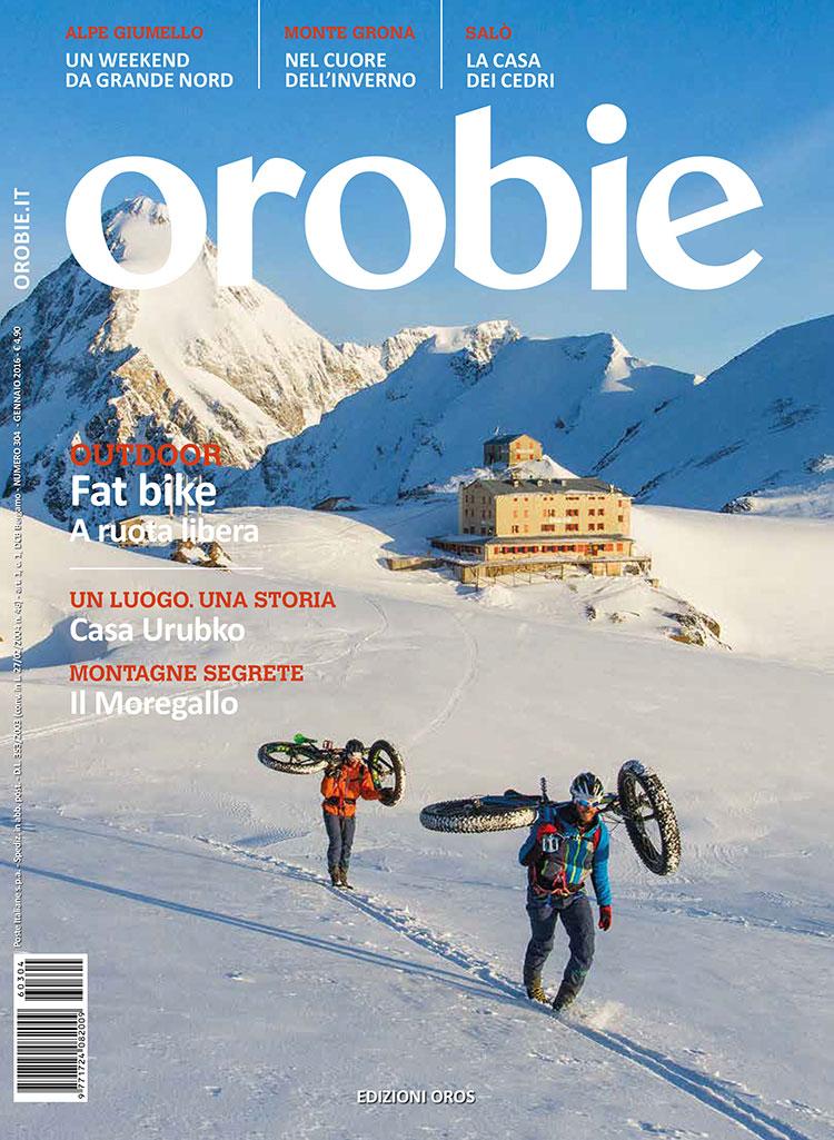 La copertina della rivista Orobie di gennaio 2016