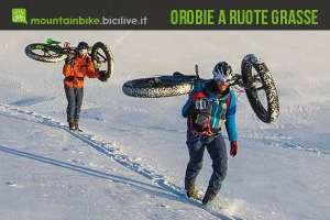 La Fat Bike in copertina sulla rivista Orobie di gennaio 2016