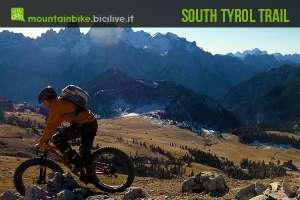 foto di un rider sulla sua fat bike in montagna