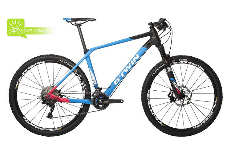 decathlon-btwin rafal-760-nero-azzurro-rosa