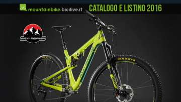 Catalogo e listino 2016 mountain bike Rocky Mountain