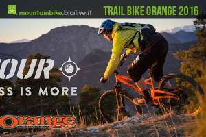 La mtb biammaortizzata Orange Four 2016