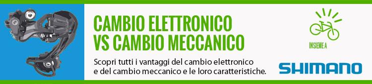 comparazione per cambio da ciclismo meccanico e elettronico