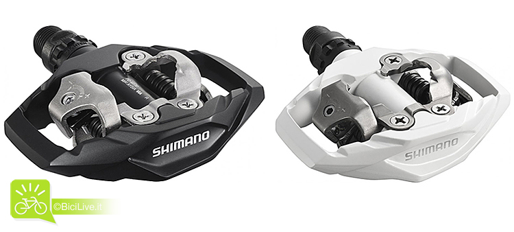 foto dei pedali SPD Shimano M530 Per enduro e all mountain.