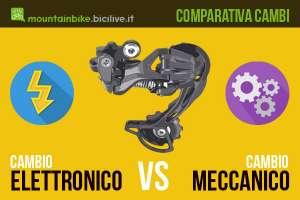 Comparativi con vantaggi e svantaggi tra il cambio per bici elettronico e meccanico