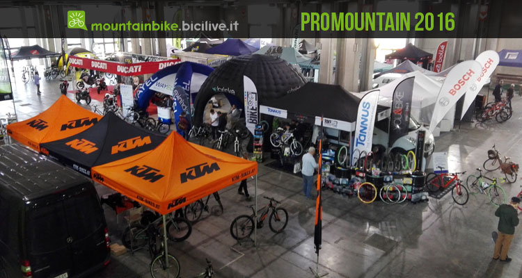 Promountain Bike Shop Test alla fiera Prowinter di Bolzano