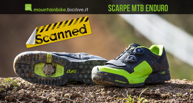 foto delle scarpe mtb enduro specialized 2fo cliplite