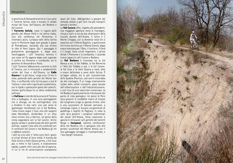 Una pagina da una guida per mountain bike pubblicata da Versante Sud