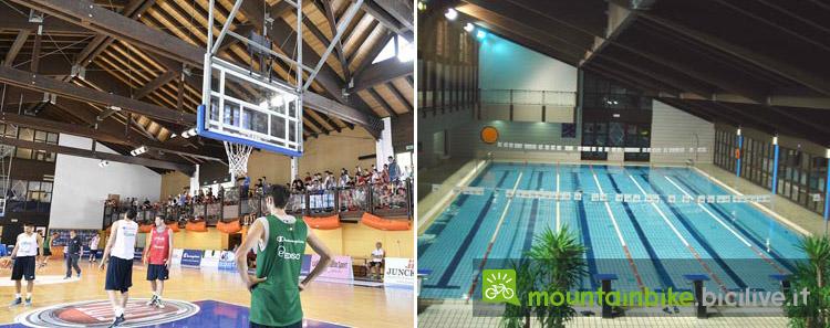 la nazionale italiana di basket si allena nella palestra di Folgaria