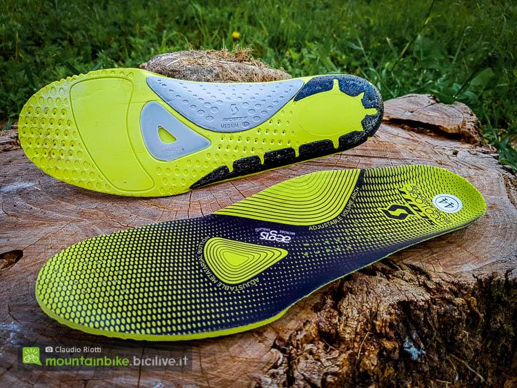 foto della soletta  delle scarpe mtb scott team boa
