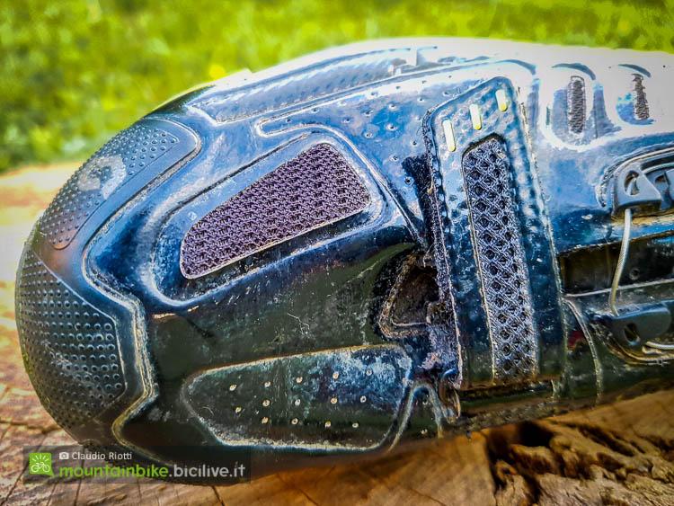 foto delle prese d'aria delle scarpe mtb scott team boa